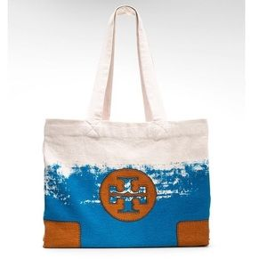 COPY - Tory Burch Canvas Beach Bag